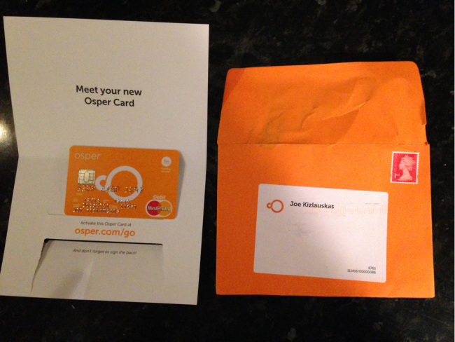 Osper Card - Welcome pack